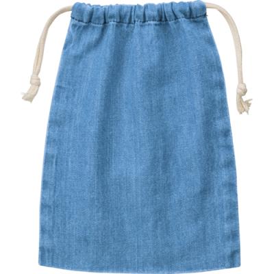 デニム巾着(M)/ヴィンテージブルー