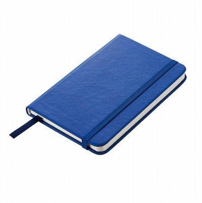 レザー調カバーノートA6(ブルー)
