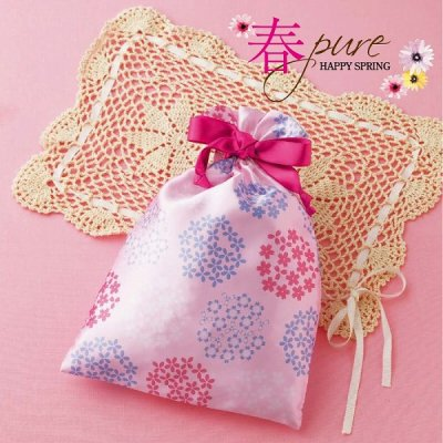 桜彩/サテン巾着