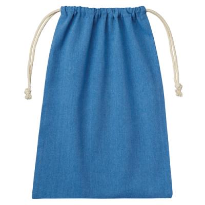 シャンブリック巾着(L) ブルー