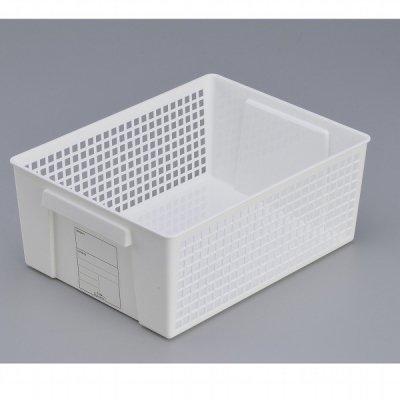 【国産】トリムバスケットラージ(ホワイト)