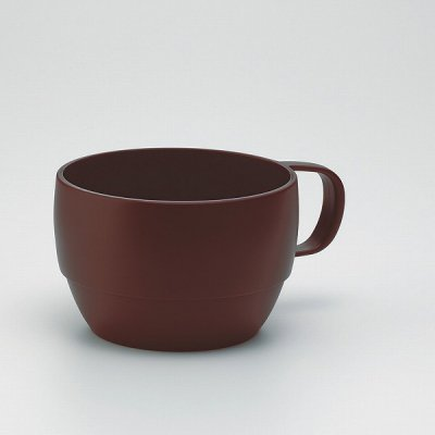 【国産】レンジスープカップ(ブラウン)