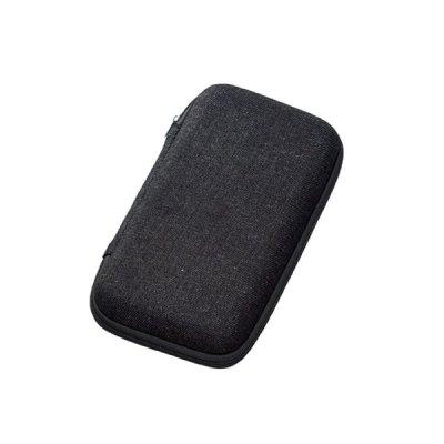 テキスタイルモバイルアクセサリーケース(L)/ブラック