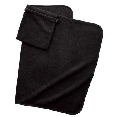 くるっと巾着収納ブランケット/ランプブラック