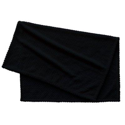 ピケブランケット(巾着付)/ブラック