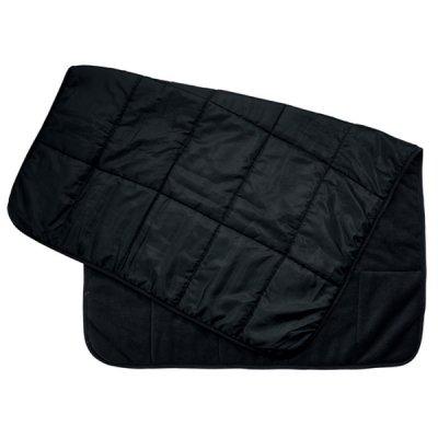キルトフリースブランケット(巾着付)/ブラック