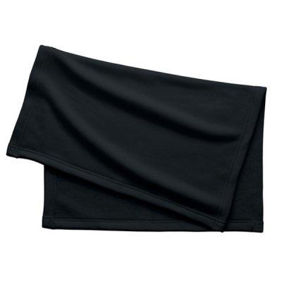 厚手スムースフリースミニブランケット/ブラック