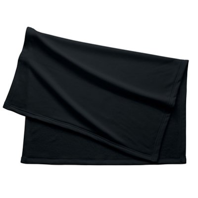 厚手スムースフリースレギュラーブランケット/ブラック