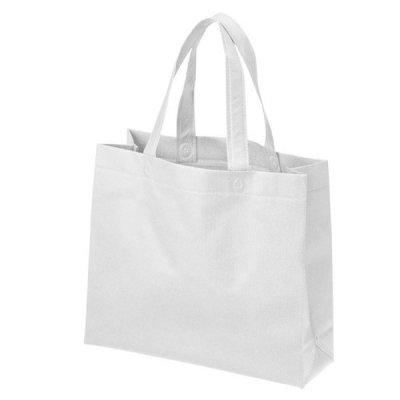 不織布A4マチ付きバッグ(白)