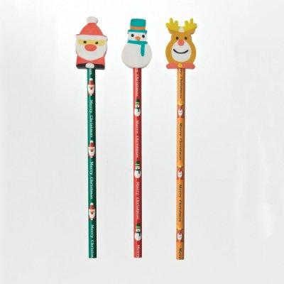 消しゴム付鉛筆〈クリスマス〉 1個