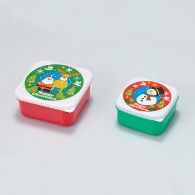 ハッピークリスマス保存容器(2コセット)