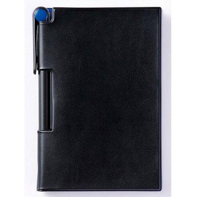 【国産】2フェイスメモ&ペン RF(ブラック/ブルー)