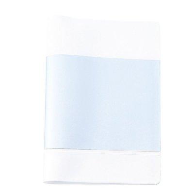 【国産】カラフルカバー付きノートA6(ホワイト)