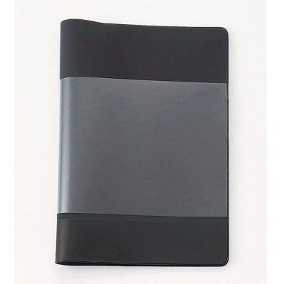 【国産】カラフルカバー付きノートB5(ブラック)
