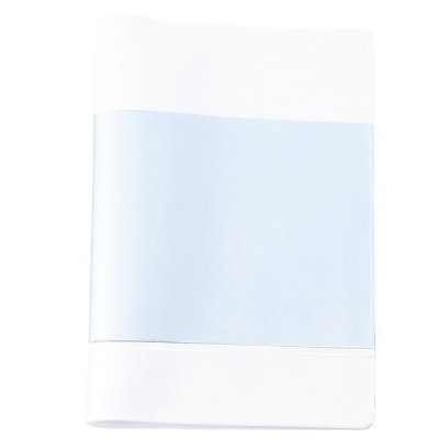 【国産】カラフルカバー付きノートB5(ホワイト)