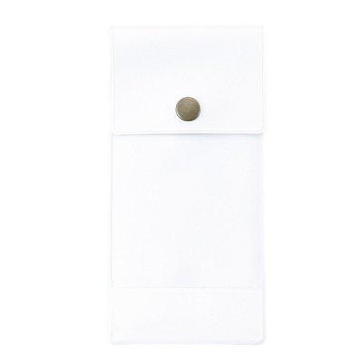 【国産】カラフルペンケース スリムノート付き(ホワイト)