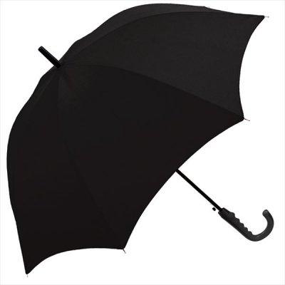 65CM紳士傘 ラバーグリップアンブレラ ブラック