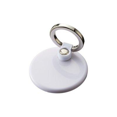 モバイルリングホルダー フルカラー対応 丸/ホワイト