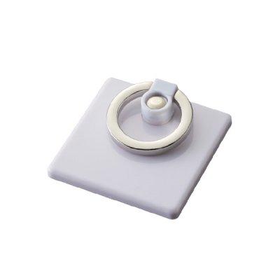 モバイルリングホルダー フルカラー対応 真四角/ホワイト