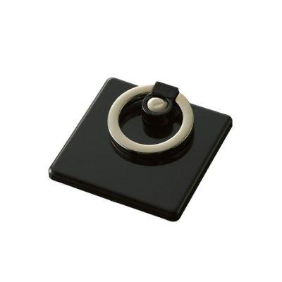 モバイルリングホルダー フルカラー対応 真四角/ブラック