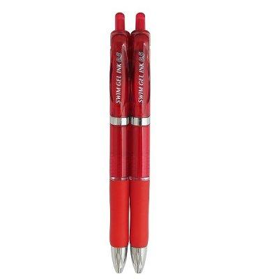 スイムゲルインクボールペン0.5赤 2P