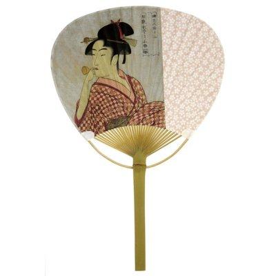 竹平柄うちわ/浮世絵美人No.109