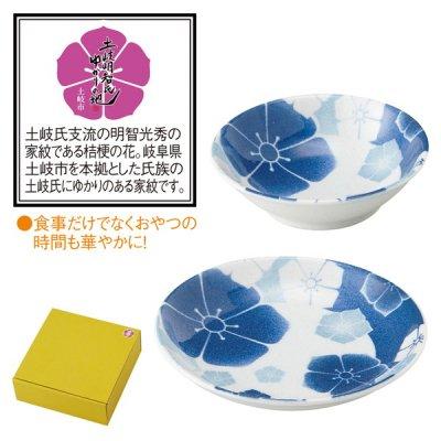 【国産】桔梗紋柄 デザートセット