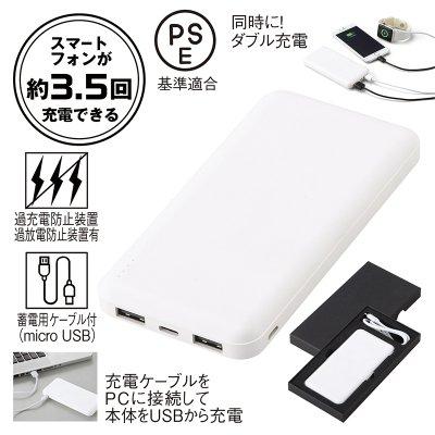 Wポートモバイルバッテリー10000