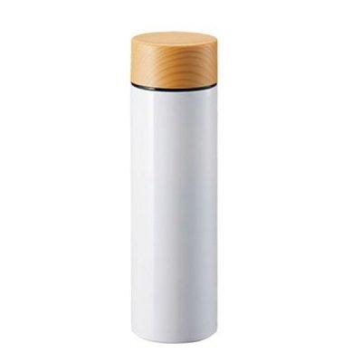 木目調サーモステンレスボトル 130ml/ホワイト