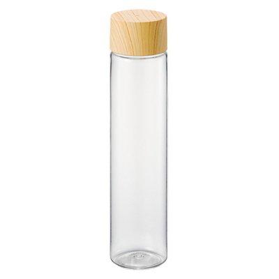木目調キャップスリムクリアボトル/ナチュラル