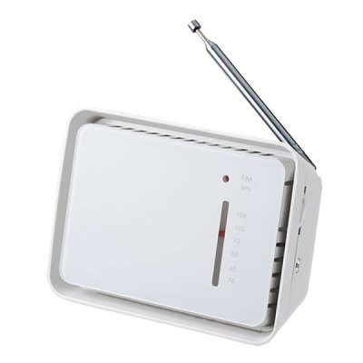 フロントパネルコンパクトラジオ/ホワイト