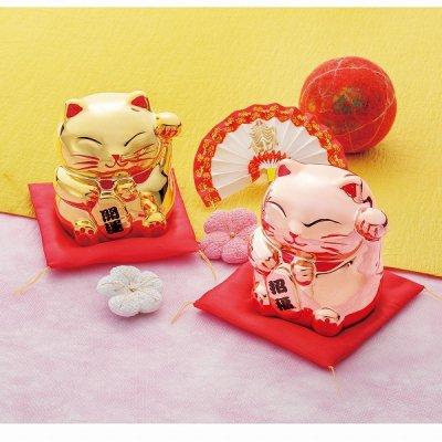 招福・開運 招き猫貯金箱 1個