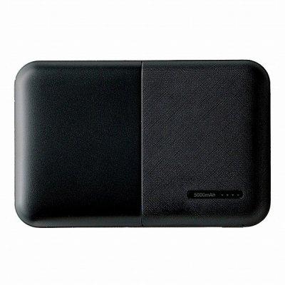 モバイルバッテリー5000mAh コンパクト軽量/ブラック