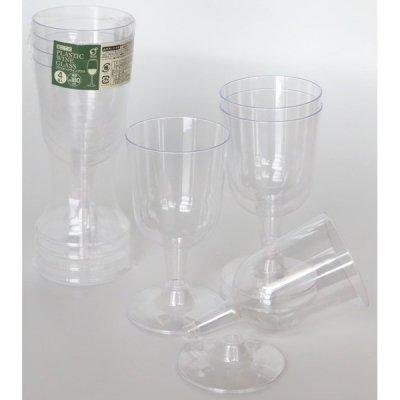 プラスチックワイングラス4P