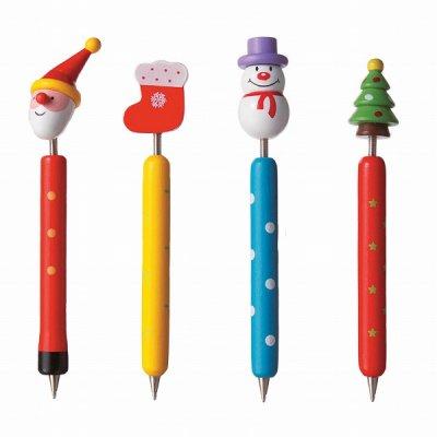 クリスマス木製ボールペン 1個