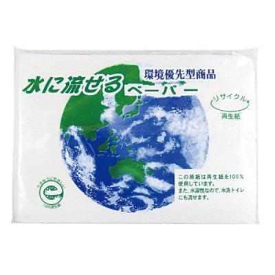 水に流せるペーパー10W【フルカラー方ラベル印刷・封入費用込み】