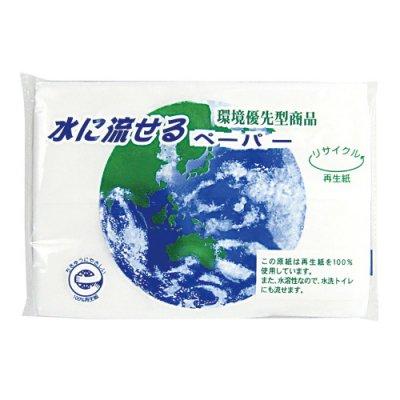 水に流せるペーパー8W【フルカラー方ラベル印刷・封入費用込み】