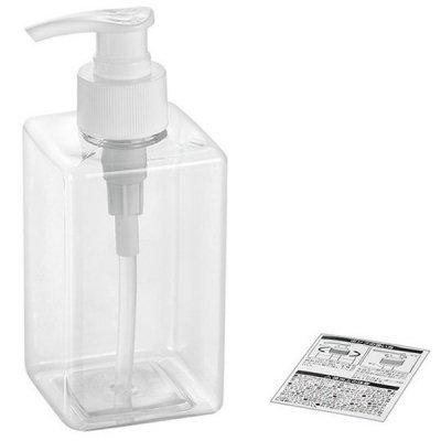 PETポンプボトル 角型クリア300ml