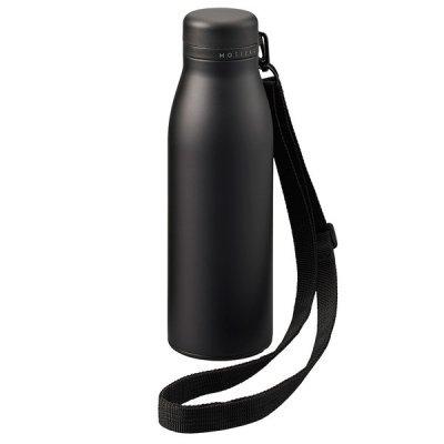 MOTTERUショルダーサーモステンレスボトル/ブラック