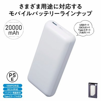 <img class='new_mark_img1' src='https://img.shop-pro.jp/img/new/icons11.gif' style='border:none;display:inline;margin:0px;padding:0px;width:auto;' />モバイル充電器 20000mAh