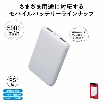 <img class='new_mark_img1' src='https://img.shop-pro.jp/img/new/icons11.gif' style='border:none;display:inline;margin:0px;padding:0px;width:auto;' />モバイル充電器 5000mAh