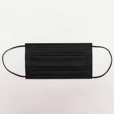 カラー不織布マスク50枚 1セット【ブラック】