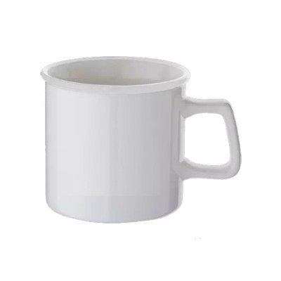 陶器マグストレート ラウンドリップ/ホワイト×ホワイト