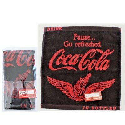 コカ・コーラ ウイング ウオッシュタオル(ポケット付透明袋入)