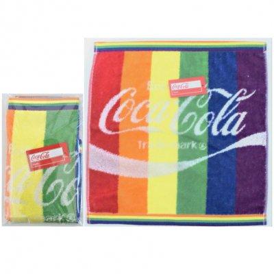 コカ・コーラ レインボー ウオッシュタオル(ポケット付透明袋入)