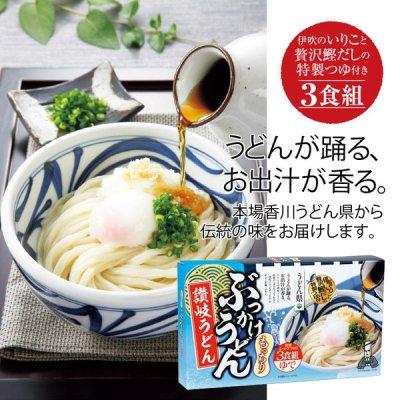 うどん県 讃岐うどん3食■ぶっかけうどん