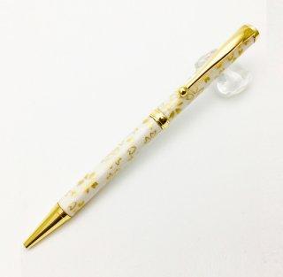 美濃和紙ボールペン 白金箔/金桜(TM-1801)