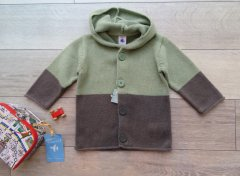 <img class='new_mark_img1' src='//img.shop-pro.jp/img/new/icons1.gif' style='border:none;display:inline;margin:0px;padding:0px;width:auto;' />PETIT BATEAU プチバトー カーキニット バイカラー カーディガン size18mos