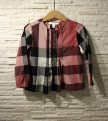 <img class='new_mark_img1' src='https://img.shop-pro.jp/img/new/icons61.gif' style='border:none;display:inline;margin:0px;padding:0px;width:auto;' />未使用 BURBERRY バーバリーチェック フロントタック ブラウス size4