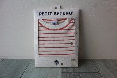 <img class='new_mark_img1' src='https://img.shop-pro.jp/img/new/icons62.gif' style='border:none;display:inline;margin:0px;padding:0px;width:auto;' />未使用 PETIT BATEAU プチバトー  赤 ボーダー Tシャツ size8/126cm